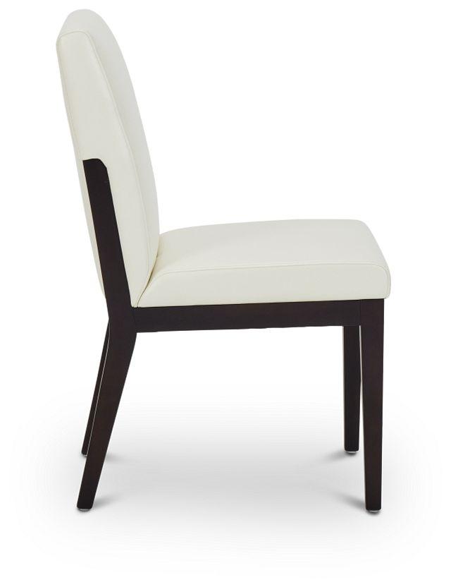 Lago White Bonded Ltr Side Chair (3)