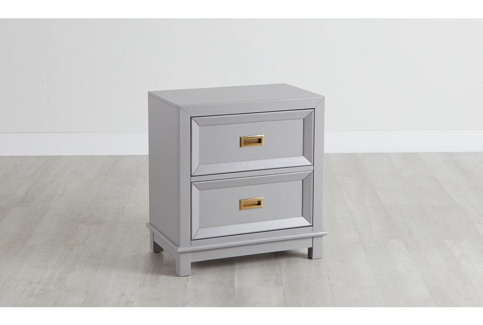 Ryder Gray 2-drawer Nightstand