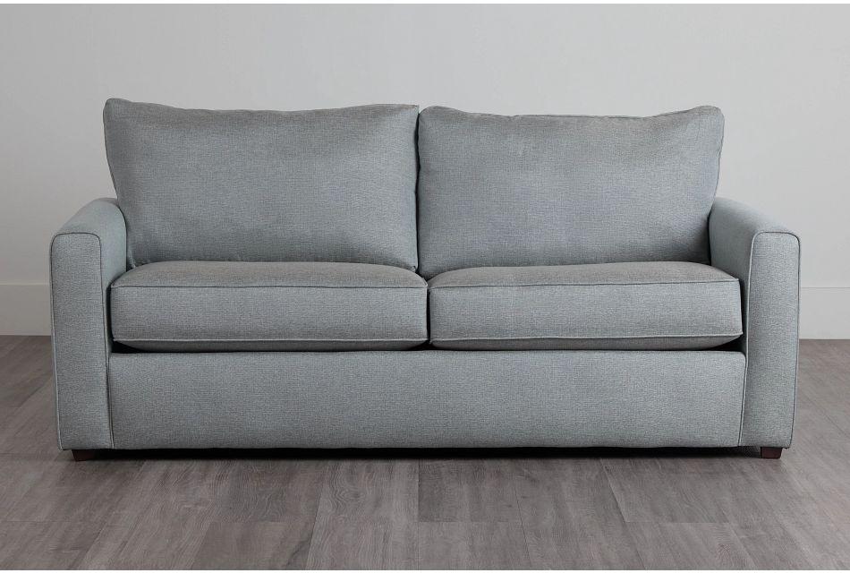 Ripley Light Blue Fabric Sofa,  (0)