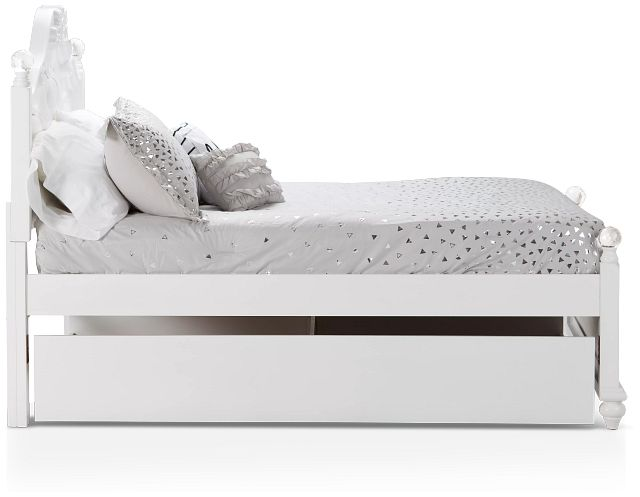 Alana White Uph Poster Trundle Bed (1)