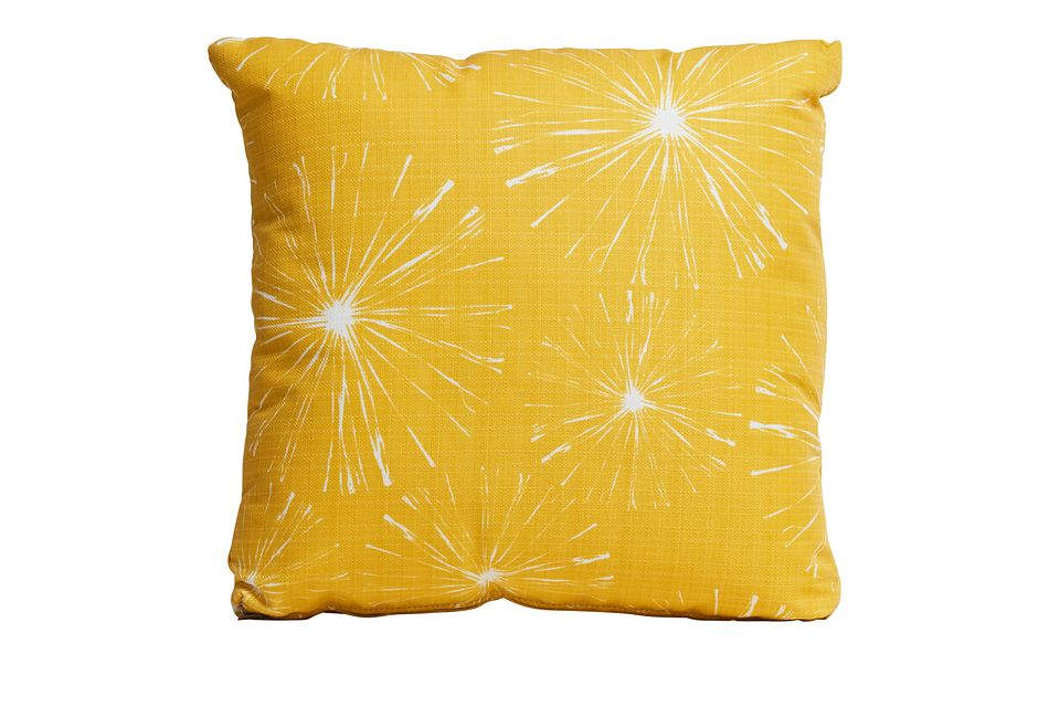 """Sparks Yellow 18"""" Indoor/outdoor Accent Pillow"""