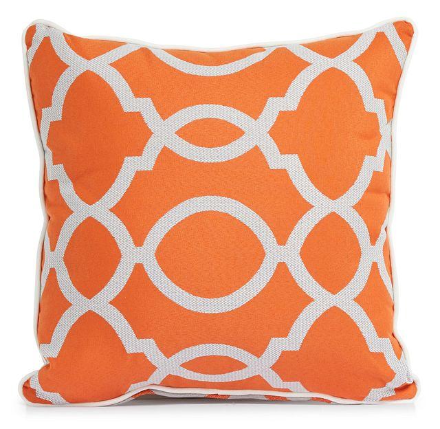 """Clover Orange 18"""" Indoor/outdoor Square Accent Pillow (1)"""