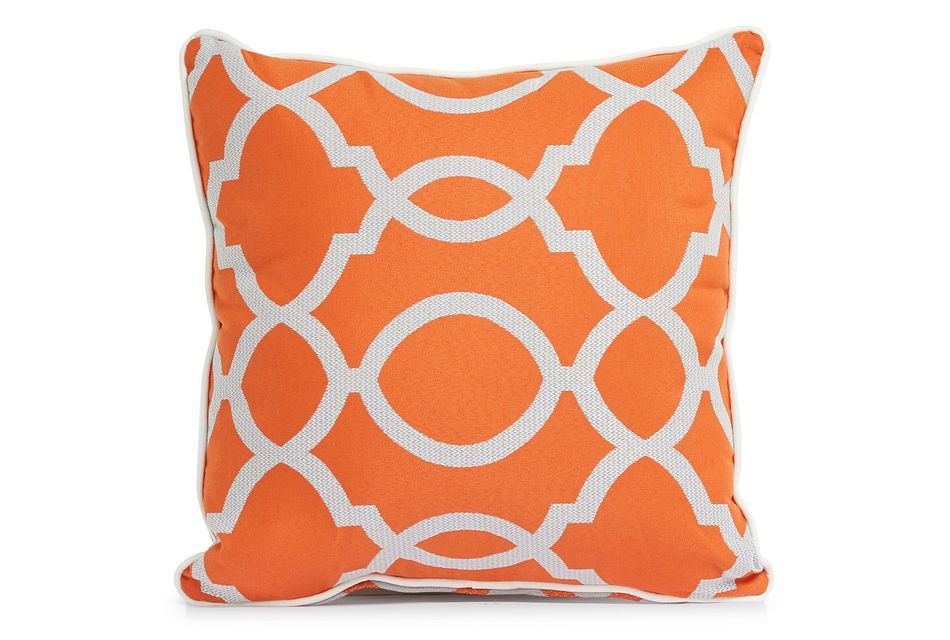 "Clover Orange 18"" Indoor/outdoor Square Accent Pillow"
