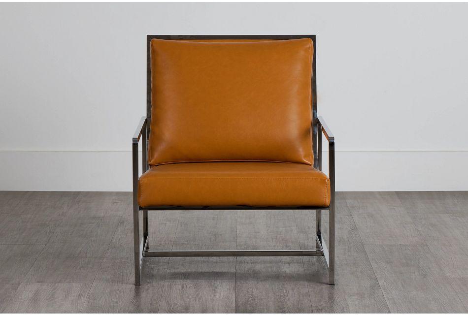 Harvey Medium Brown Uph Accent Chair,  (0)