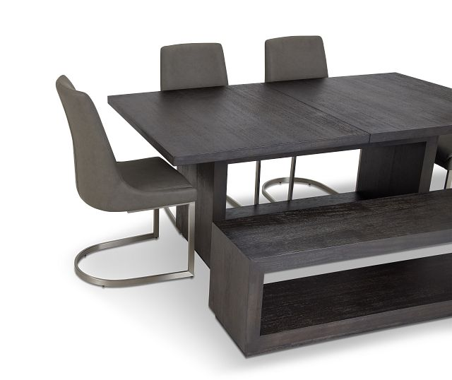 Madden Dark Tone Table, 4 Chairs & Bench
