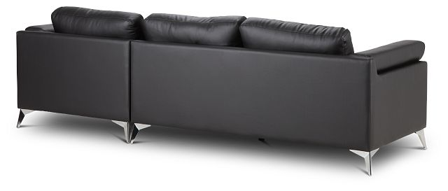 Gianna Black Micro Right Chaise Sectional