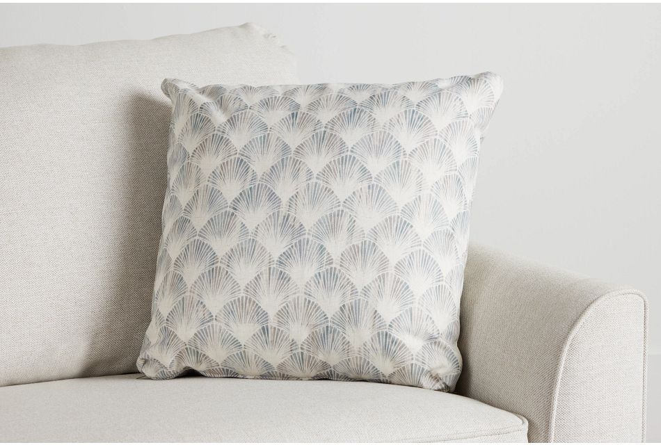 "Shell Green Fabric 20"" Accent Pillow,  (0)"