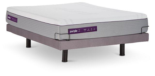Purple Hybrid Adjustable Mattress Set (1)