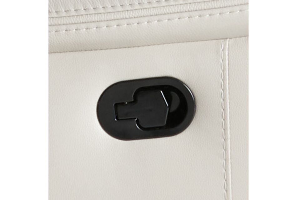 Aiden Light Gray Leather Swivel Glider Recliner