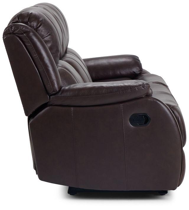 Dalton Medium Brown Lthr/vinyl Reclining Sofa (3)