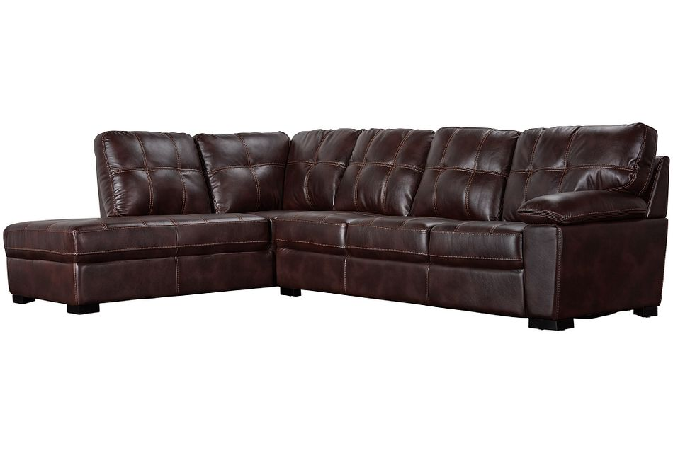 Henry Dark Brown Micro Left Bumper Sectional