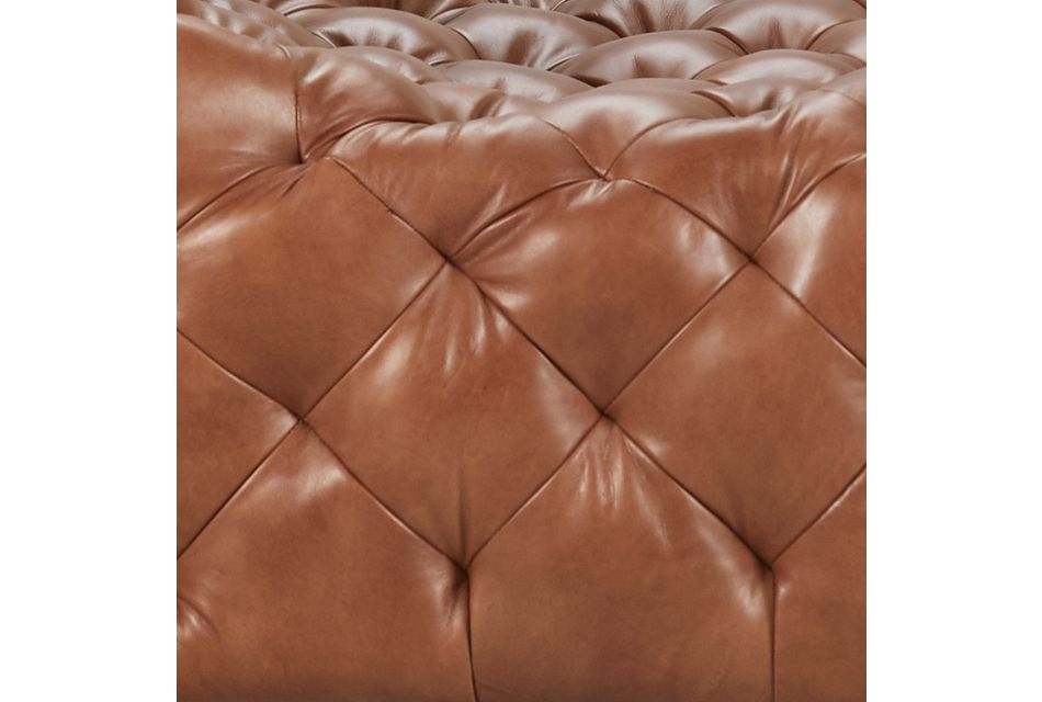 Rigby Brown Leather Swivel Accent Chair