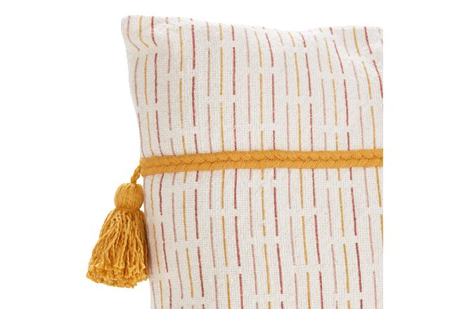 Olimpia Yellow Linen Accent Pillow