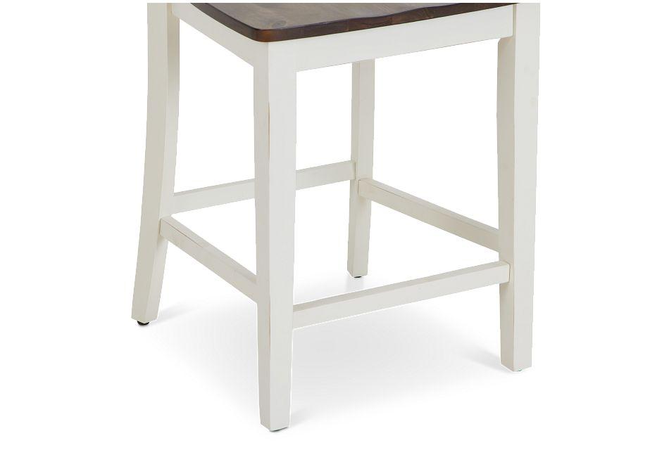 "Sumter White 24"" Wood Barstool"