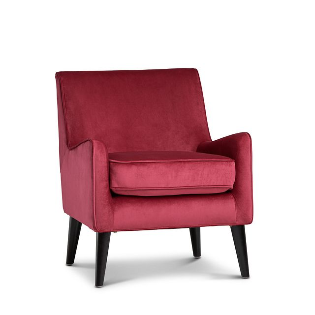 Angie Red Velvet Accent Chair (0)