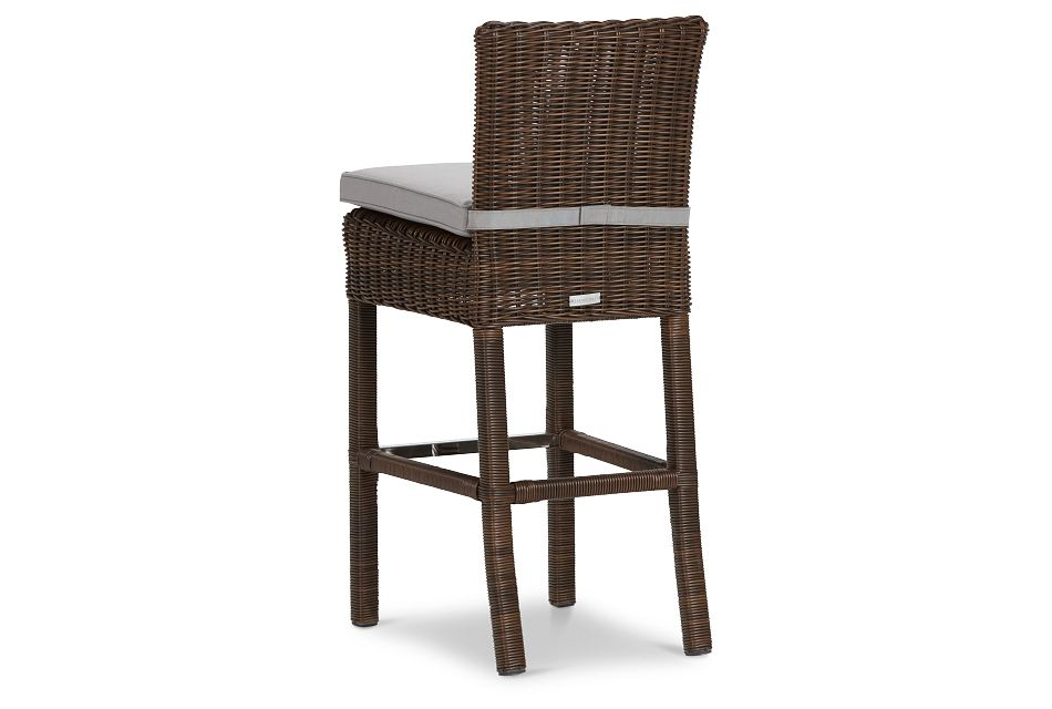 "Canyon Dark Brown Gray Woven 30"" Barstool"