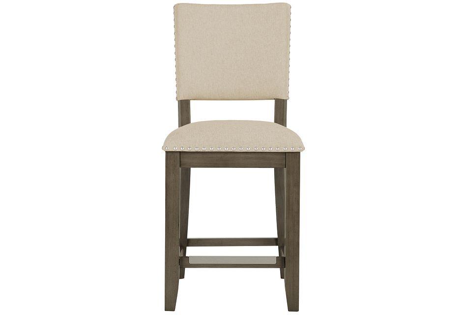 "Omaha GRAY 24"" Upholstered Barstool"