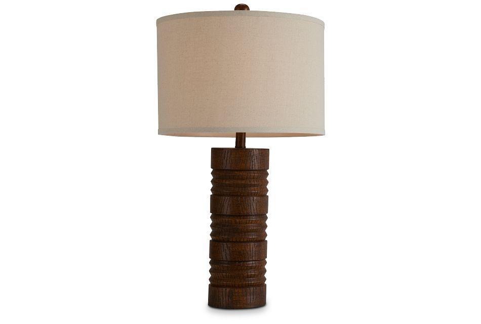 Gina Brown Polyresin Table Lamp,  (2)