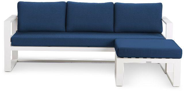 Lisbon Navy Aluminum Chaise Sectional (2)