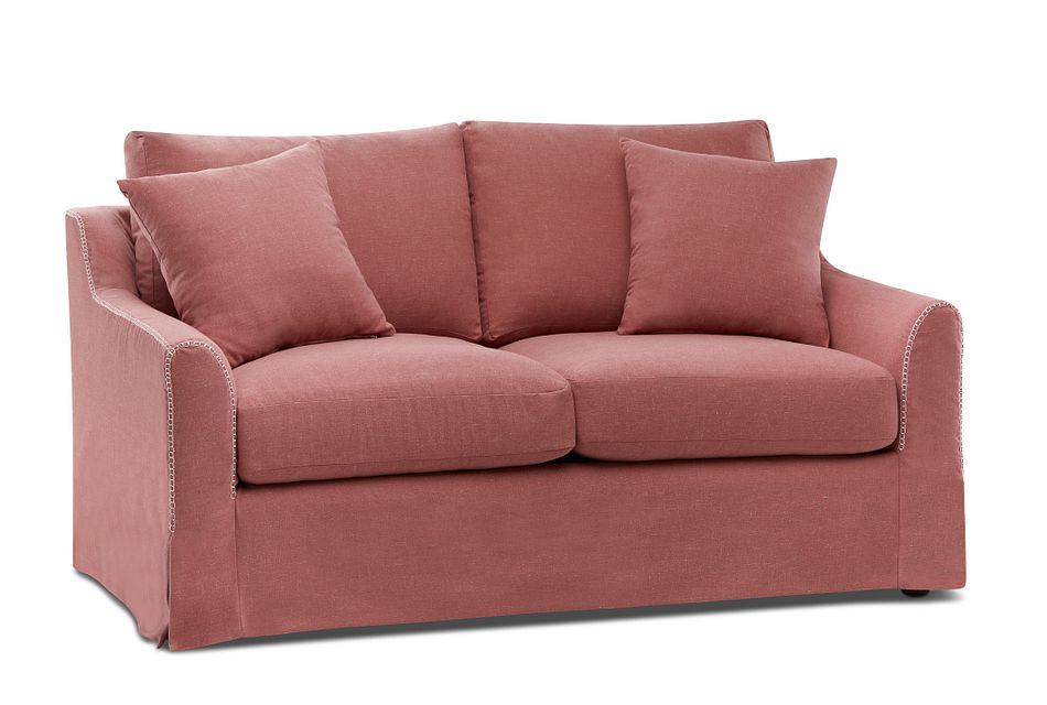 Madelyn Red Fabric Loveseat