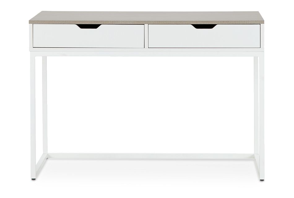 Delray Two-Tone Writing Desk, %%bed_Size%% (1)