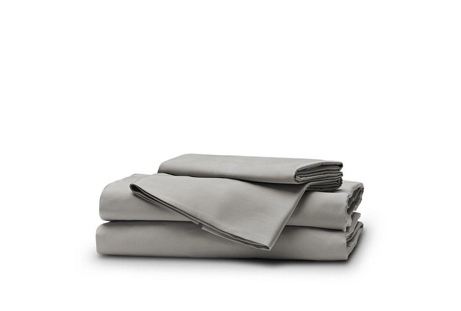 Egyptian Cotton Gray 400 Thread Sheet Set, Queen (1)