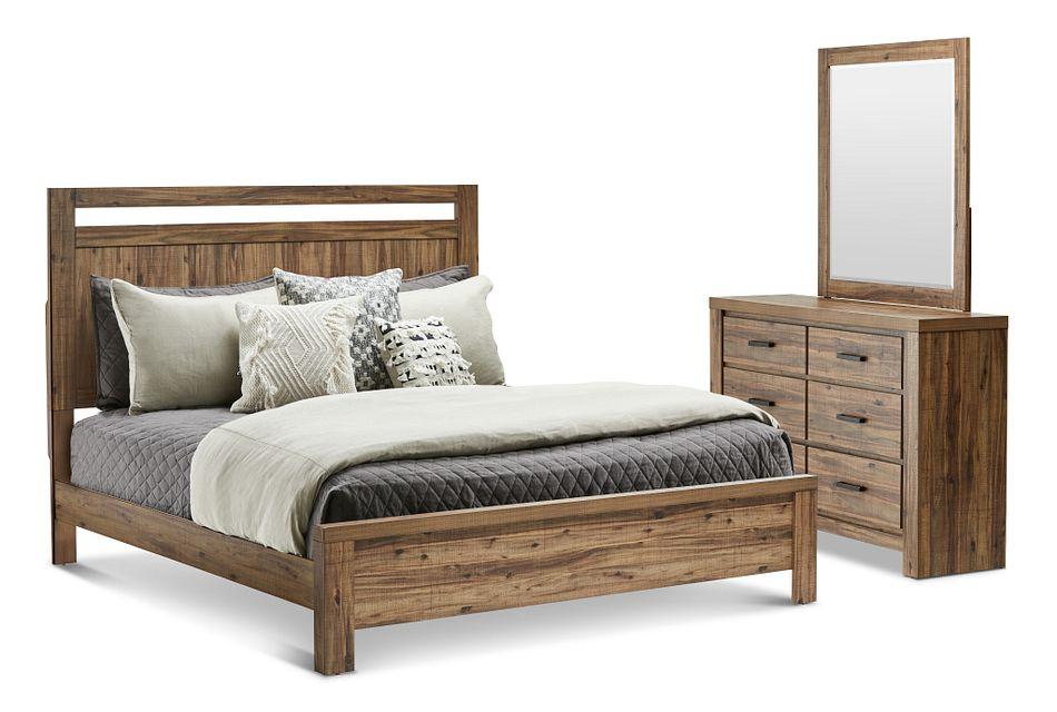 Forest Light Tone Panel Bedroom