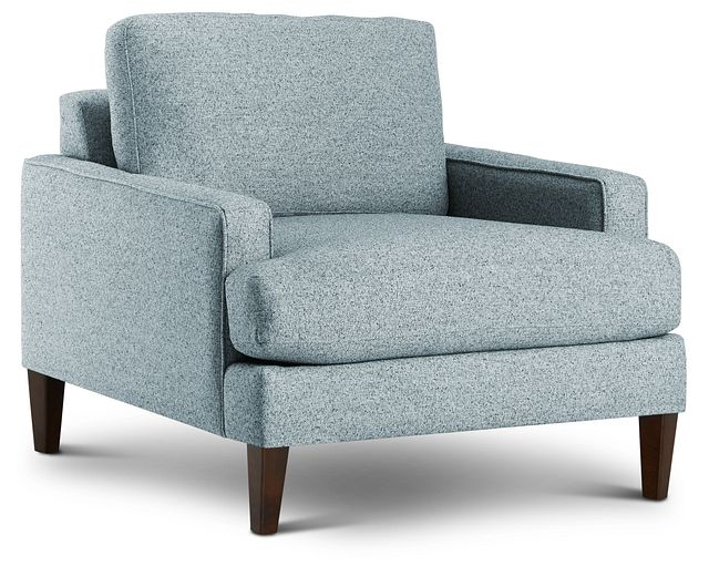 Morgan Teal Fabric Chair With Wood Legs (1)