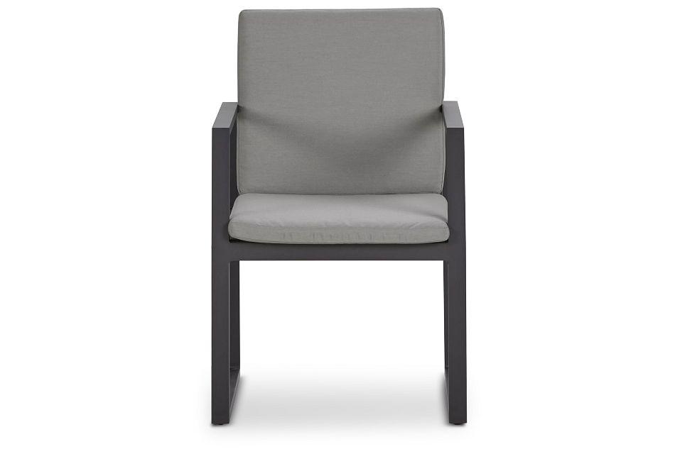 Linear Dark Gray Arm Chair,  (2)