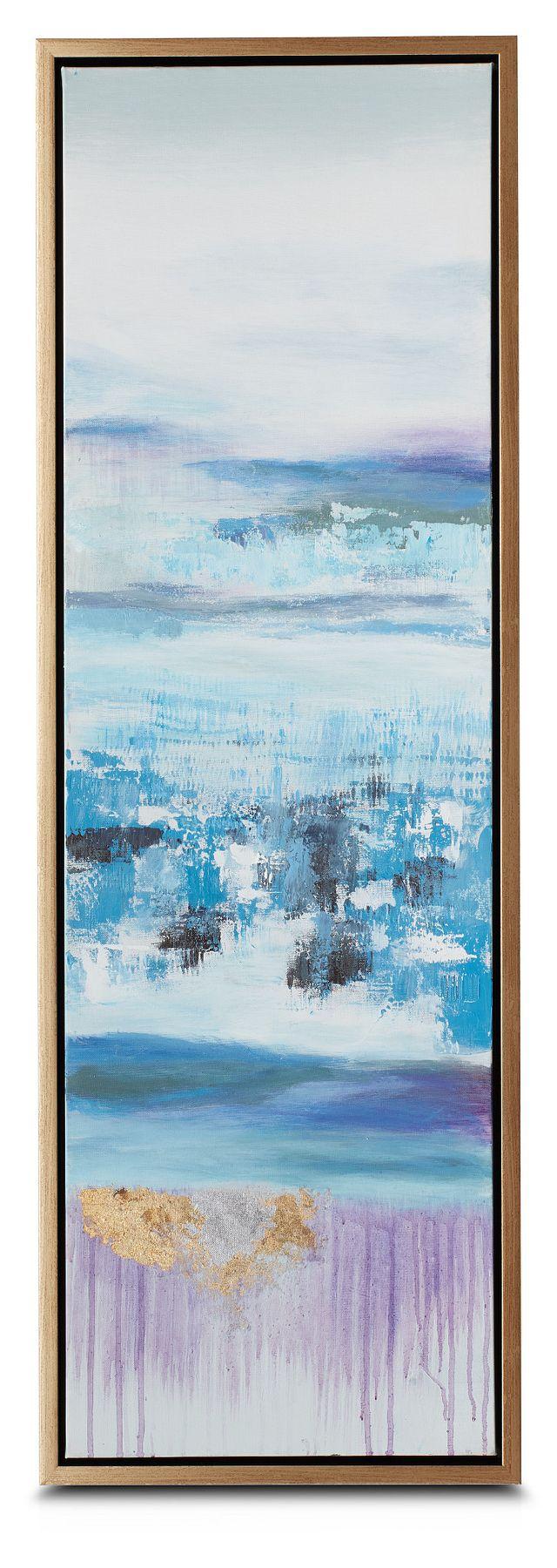 Athena Blue Set Of 3 Framed Canvas Wall Art (2)
