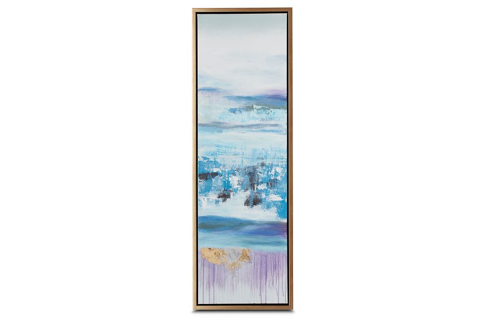 Athena Blue Set Of 3 Framed Canvas Wall Art