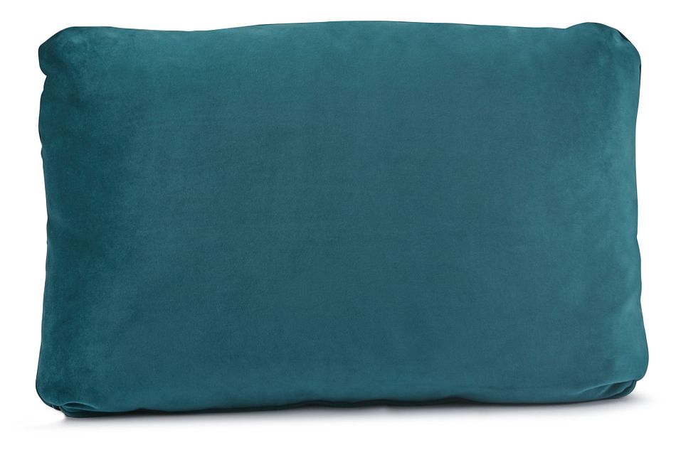 Royale Dark Teal Lumbar Square Accent Pillow