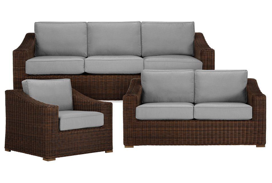 Canyon Dark Brown Gray Outdoor Living Room Set