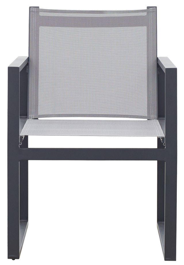 Linear Dark Gray Sling Arm Chair (1)