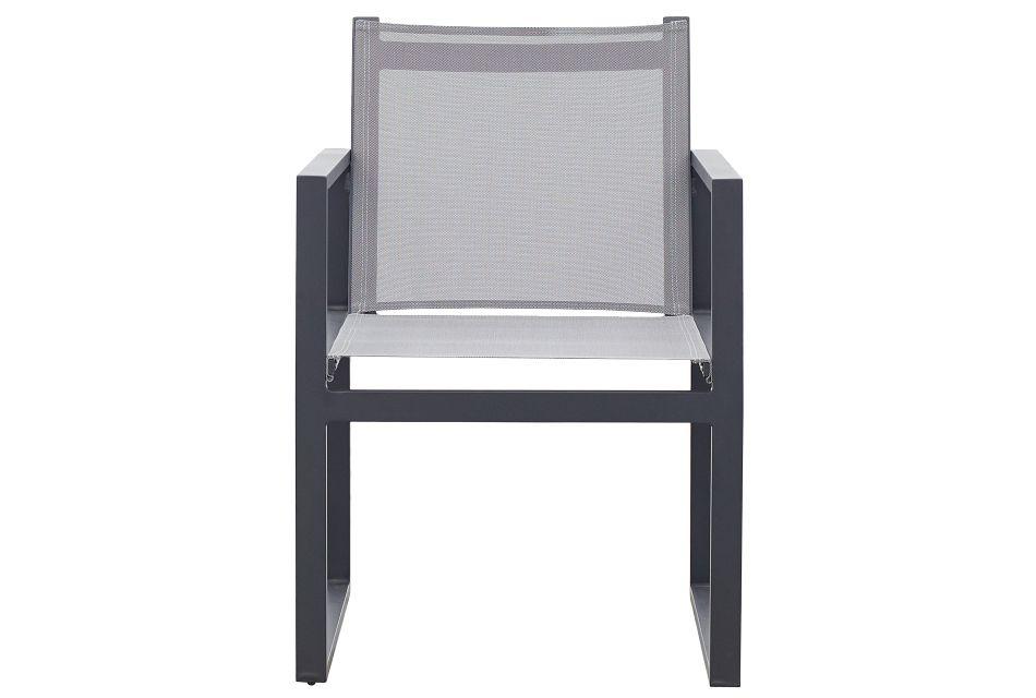Linear Dark Gray Sling Arm Chair