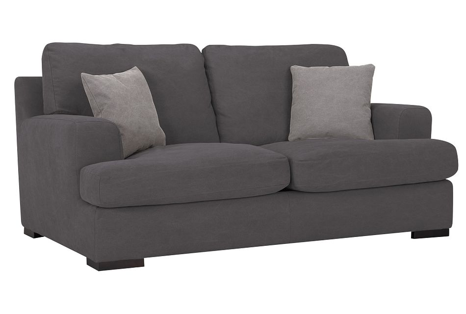 Samson Dark Gray Fabric Loveseat