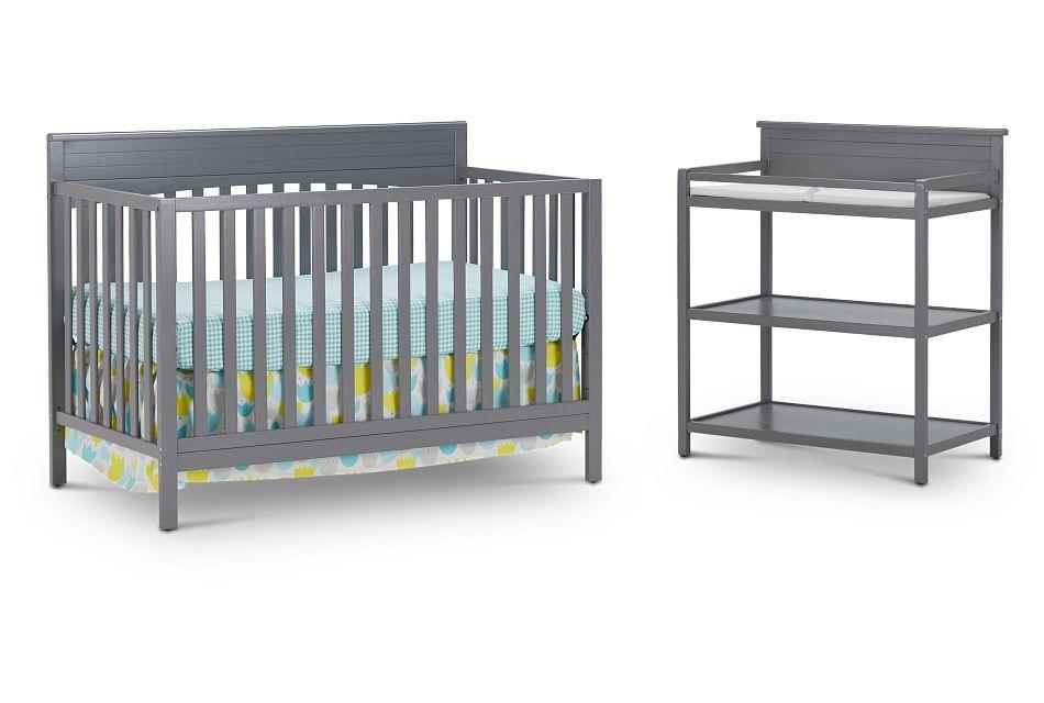 Parker Gray Crib Bedroom