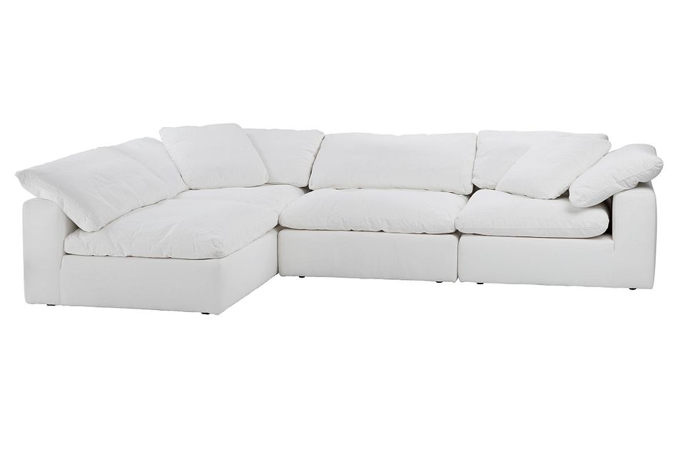 Nixon WHITE FABRIC 4-Piece Modular Sectional