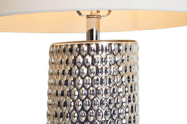 Fiona Chrome Glass Table Lamp
