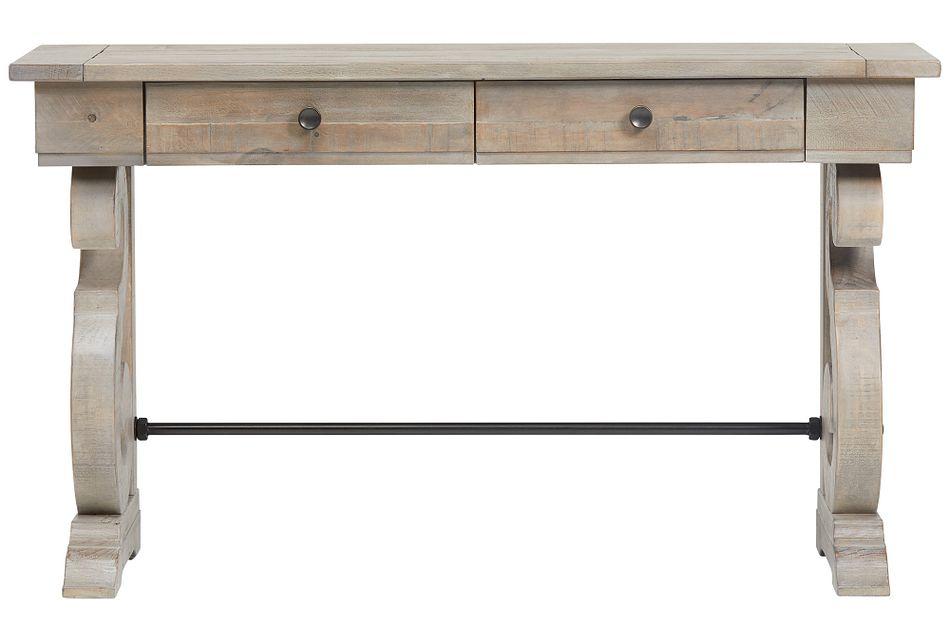 Sonoma Light Tone  Storage Sofa Table