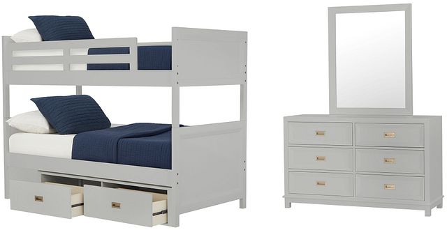 Ryder Gray Bunk Bed Storage Bedroom (0)