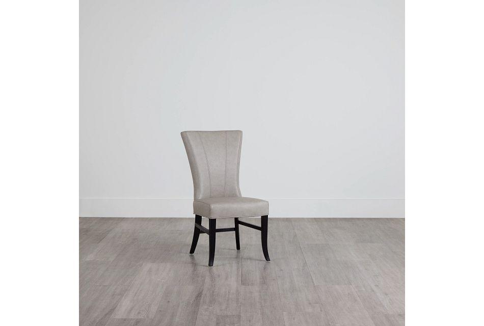 Lori Light Gray Micro Side Chair,  (0)