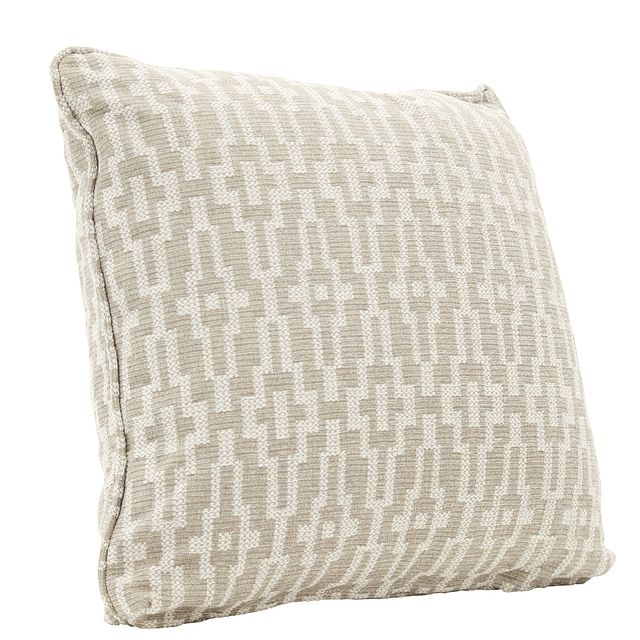 """Adriana Dark Taupe 22"""" Down Accent Pillow (1)"""