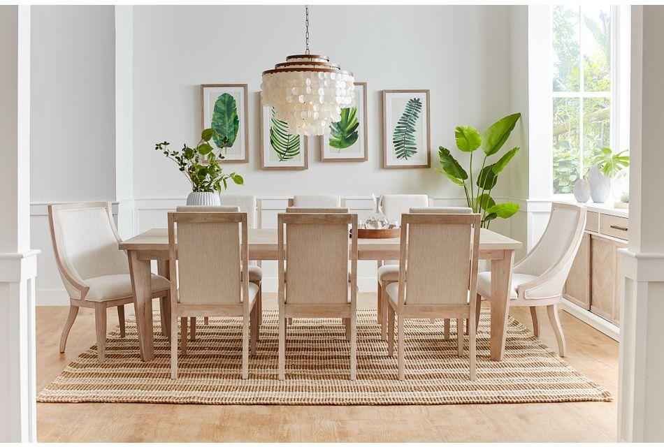 Boca Grande LIGHT TONE  Table & 4 Upholstered Chairs,  (1)