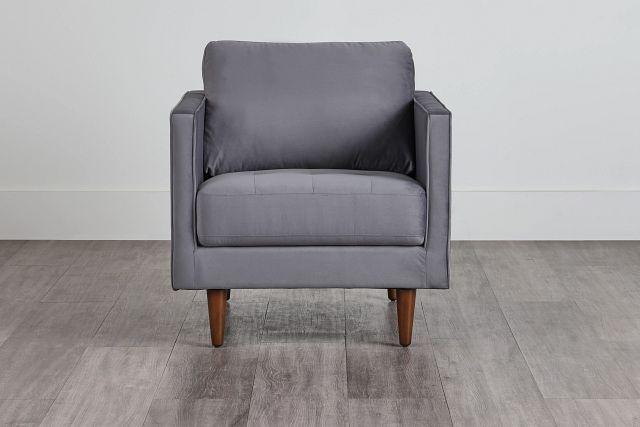 Luna Gray Velvet Chair (0)