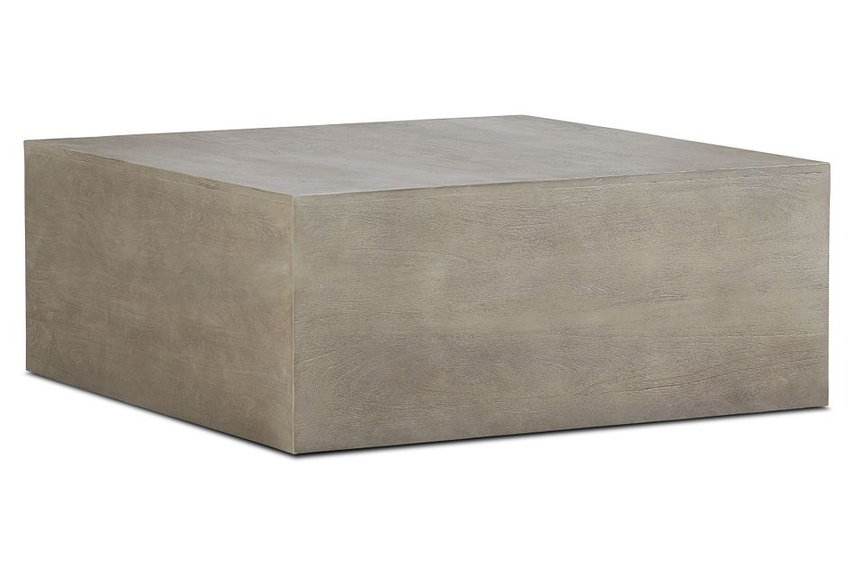 Ray Light Tone  Square Coffee Table,  (2)
