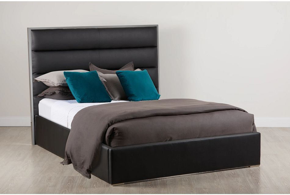 Cortina Black Uph Platform Bed