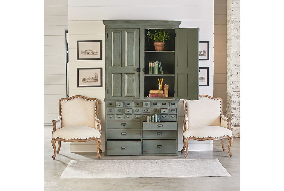 Card Green China Cabinet
