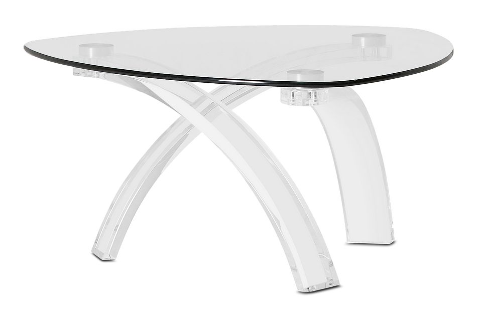 Cannes Glass Triangular Coffee Table