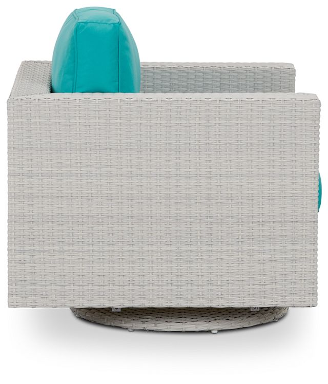 Biscayne Dark Teal Swivel Chair (1)